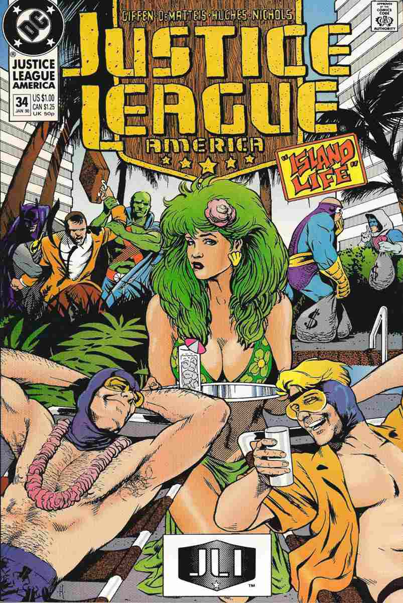 Justice League America comic issue 34