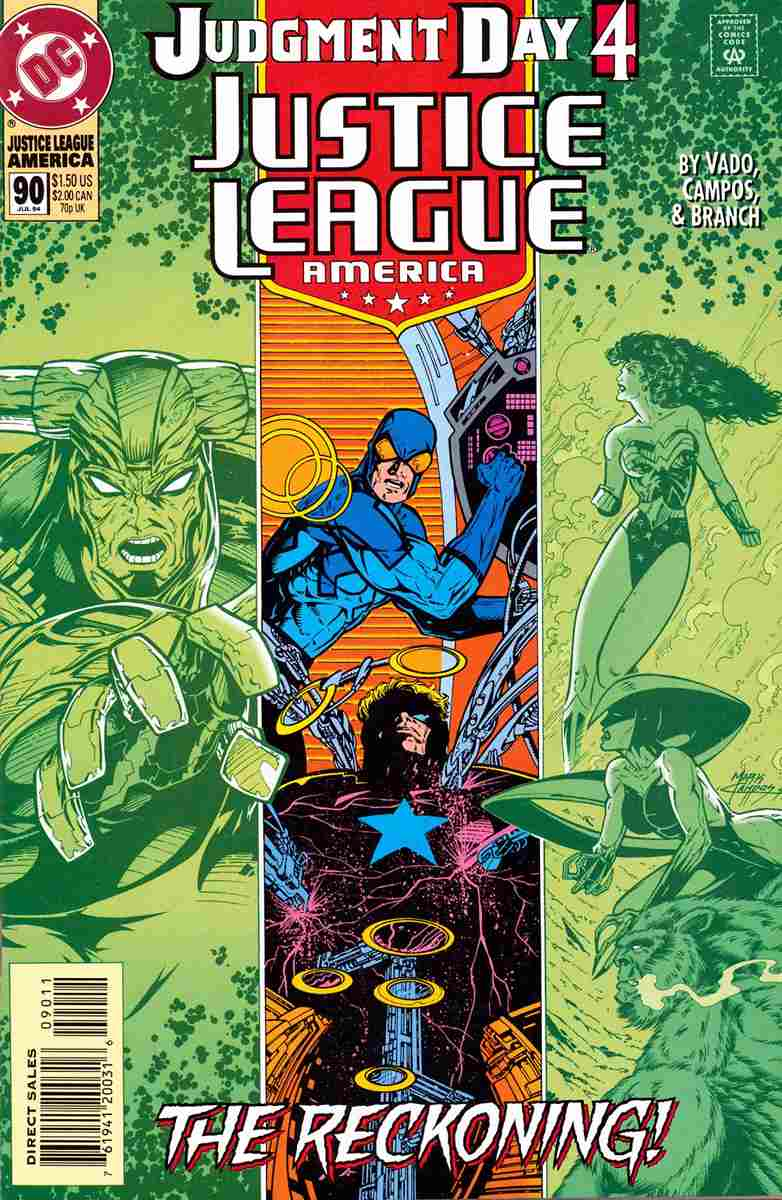 Justice League America comic issue 90
