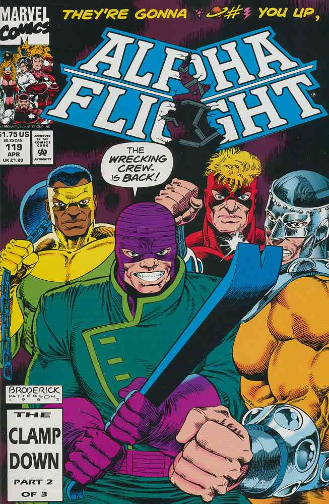 Alpha Flight (1st Series) comic issue 119
