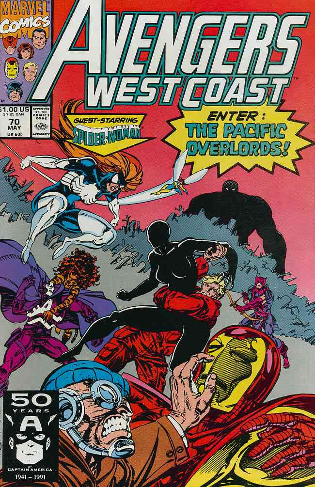 Avengers West Coast comic issue 70