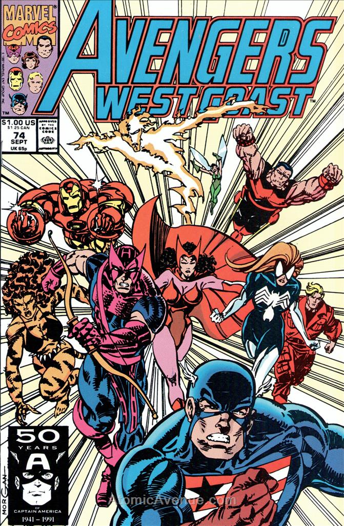 Avengers West Coast comic issue 74