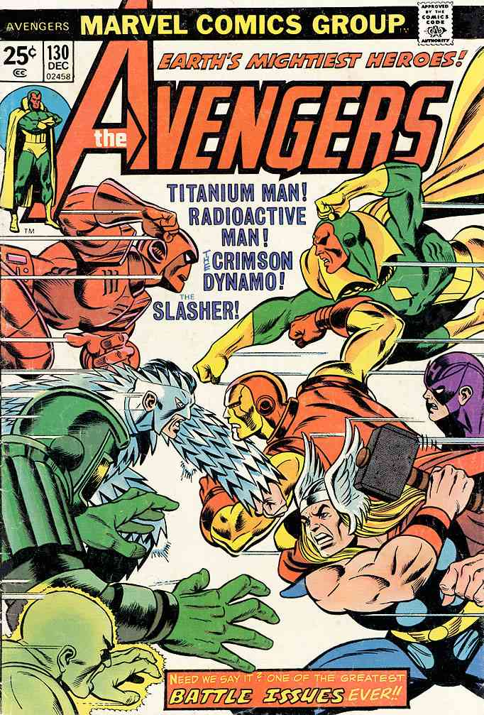 Avengers, The comic issue 130