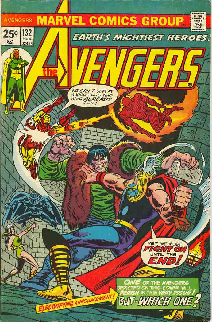 Avengers, The comic issue 132