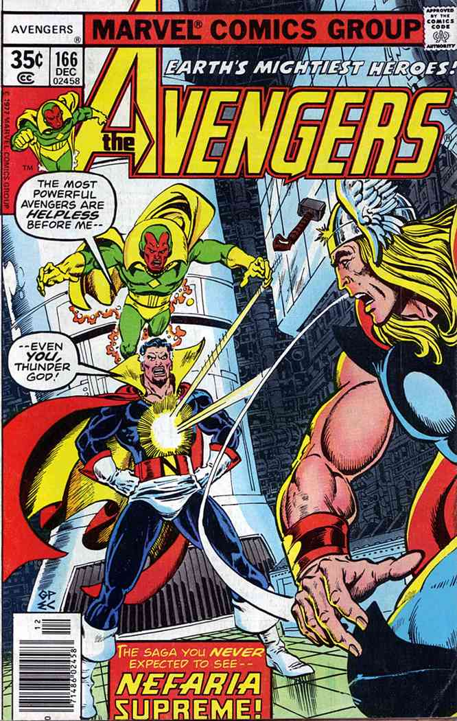 Avengers, The comic issue 166