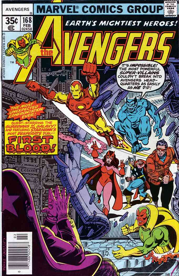 Avengers, The comic issue 168