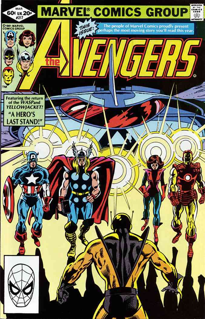 Avengers, The comic issue 217