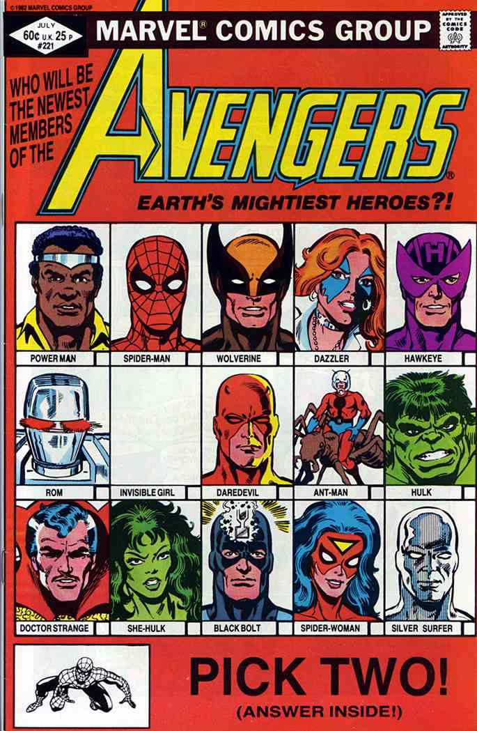 Avengers, The comic issue 221