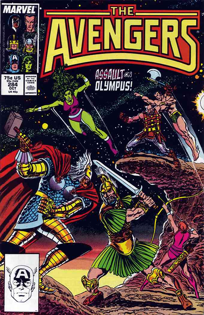Avengers, The comic issue 284