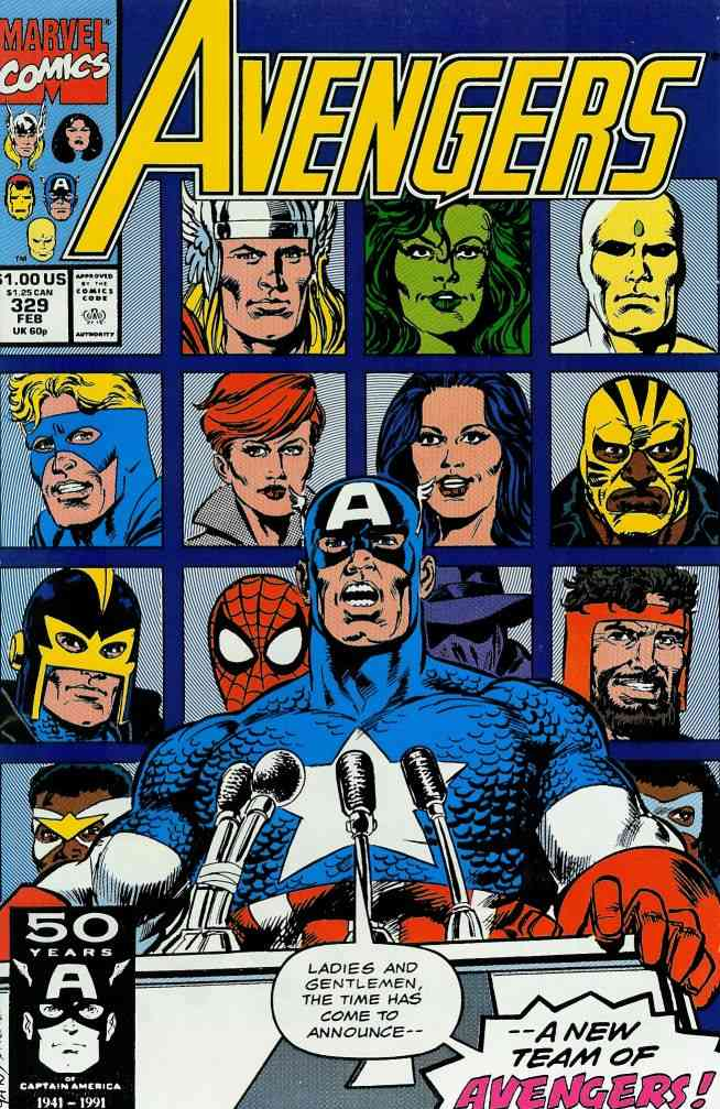 Avengers, The comic issue 329