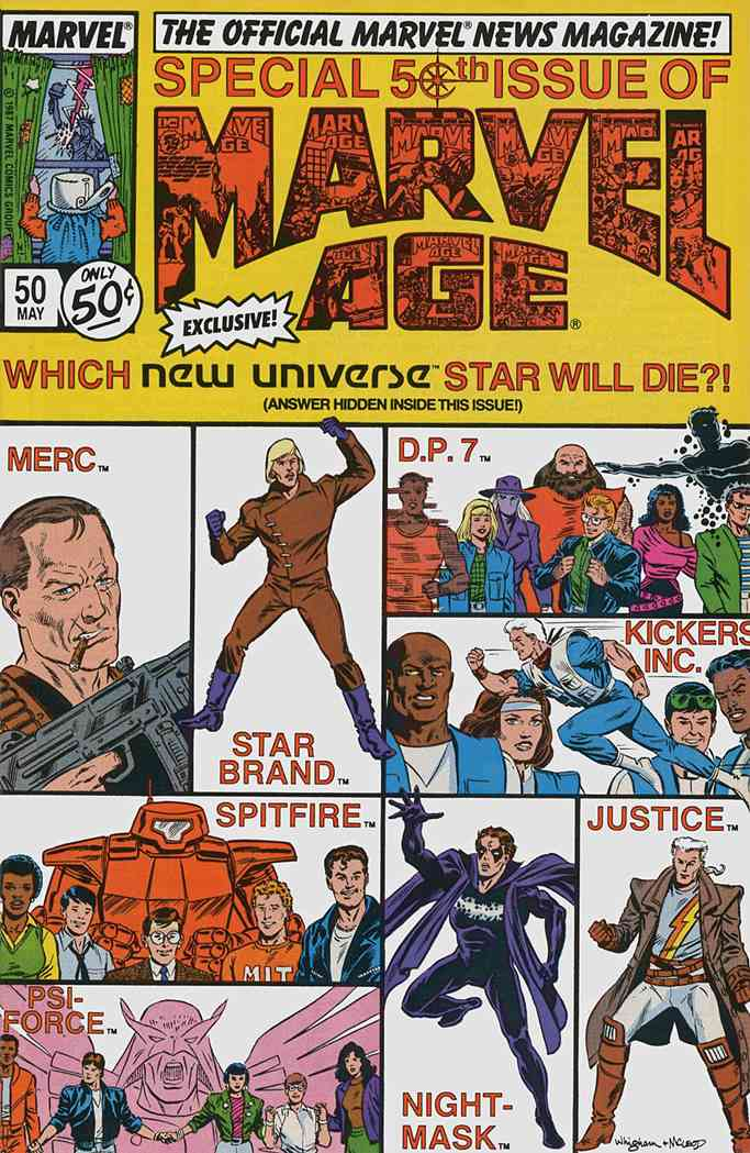 Marvel Age comic issue 50