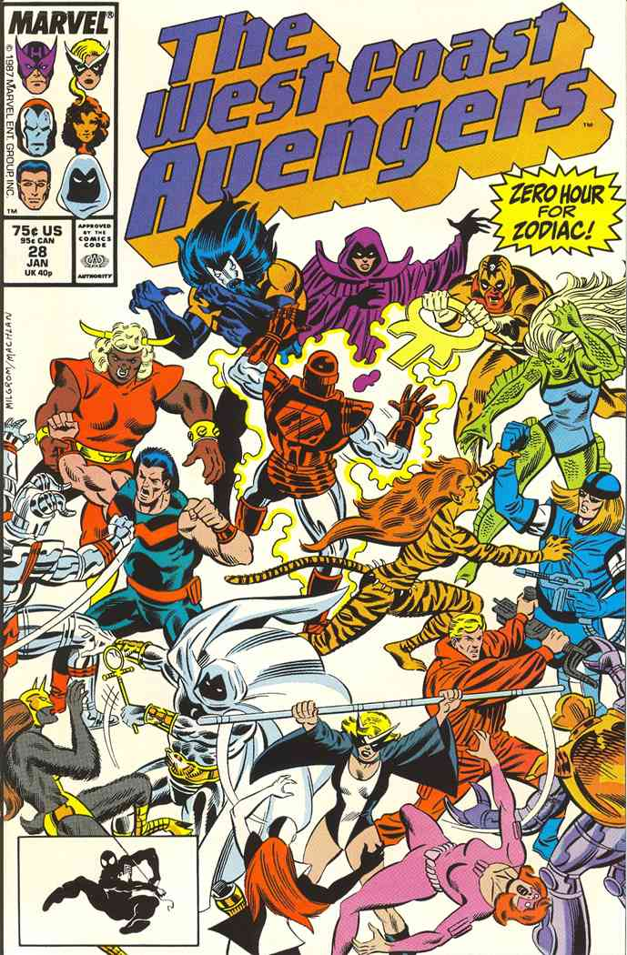 West Coast Avengers comic issue 28