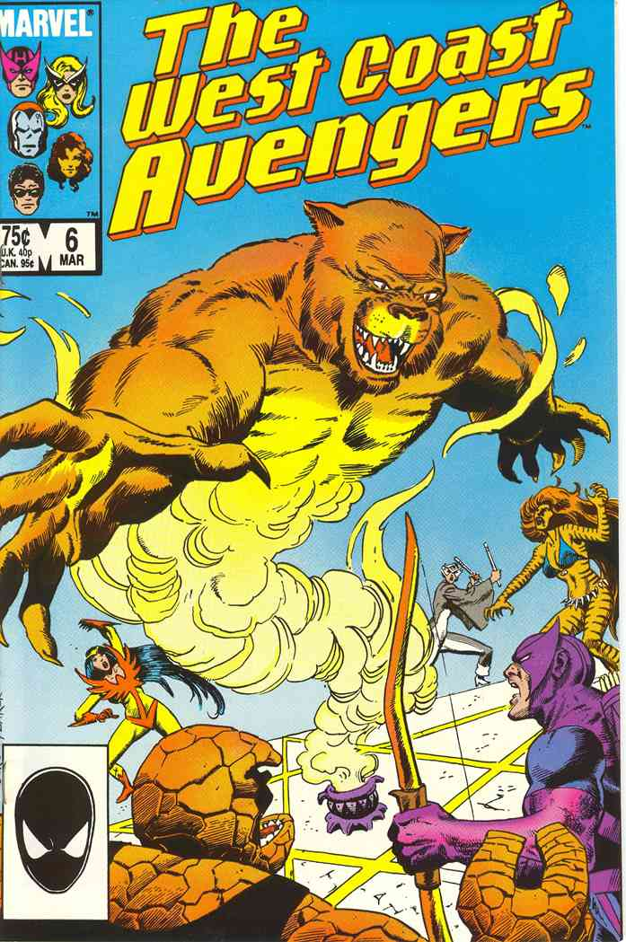 West Coast Avengers comic issue 6