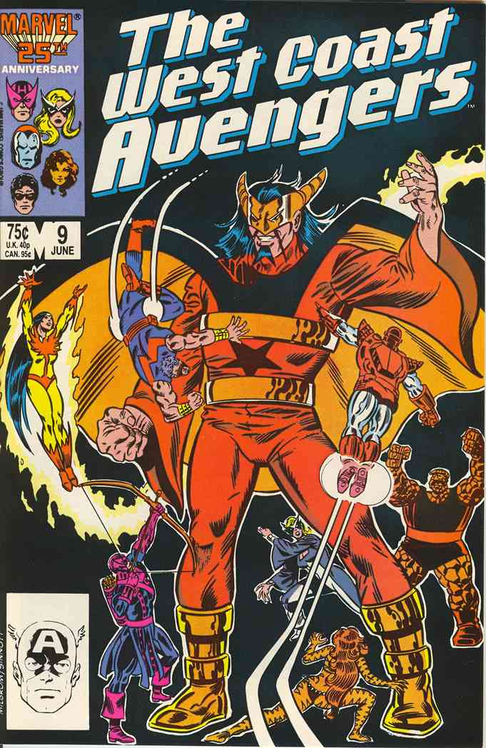 West Coast Avengers comic issue 9