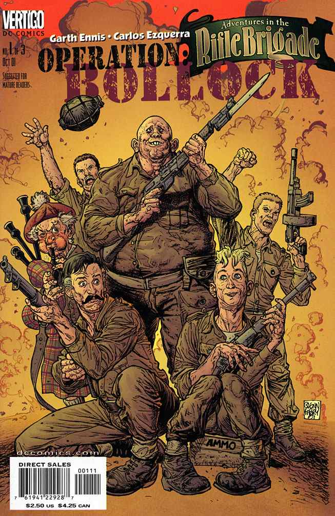 Adventures in the Rifle Brigade: Operation Bollock comic issue 1